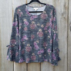 Style & Co. Bell Sleeve Floral Blouse